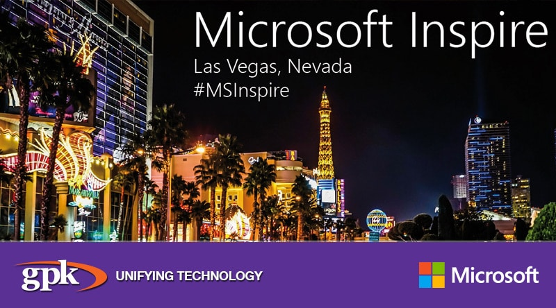 NEWS: Team GPK are off to Las Vegas, Nevada for Microsoft Inspire 2018